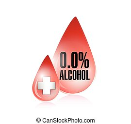 0 percent alcohol blood level illustration design over a...