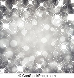 Silver christmas starry background. - Silver starry...