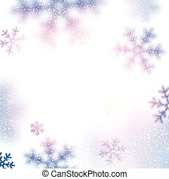 Snow christmas background - Christmas background with...