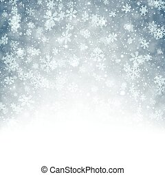 Christmas background with fallen snowflakes - Winter...