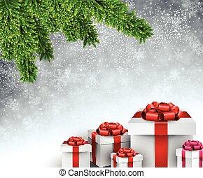 Christmas tree gifts.