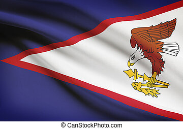 Flag blowing in the wind series - American Samoa