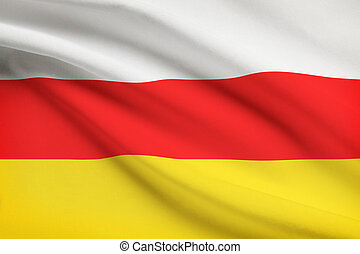 Flag blowing in the wind series - South Ossetia