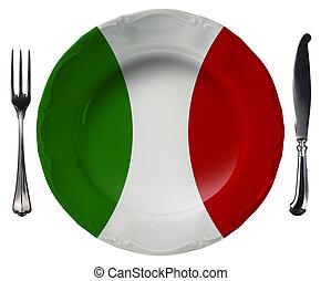 Italian Cuisine - Plate and Cutlery