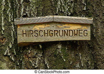 Hirschgrundweg sign 01