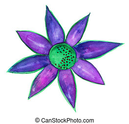 Purple green flower