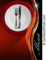 Restaurant Menu Design - Restaurant menu with empty and...