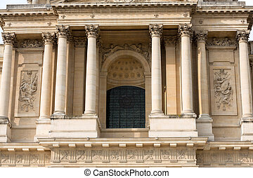 Entrance of Dome des Invalides, burial site of Napoleon...