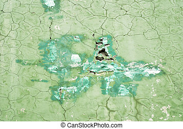 Green cracked wall