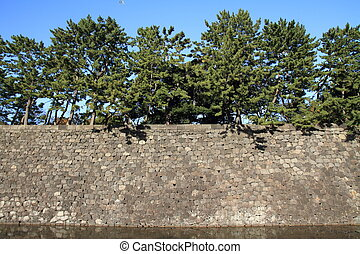 Castle wall of Edo castle