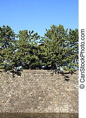 Castle wall of Edo castle