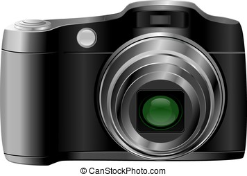 Photocamera  - proffesional slr digital camera - vector/ eps