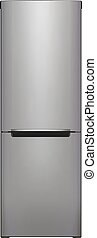 Refrigerator - Illustration of a refrigerator, isolated on...