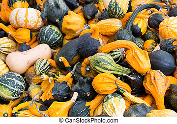 Gourds at a market stall
