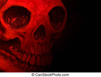 Red halloween mask - Halloween mask on black with red...