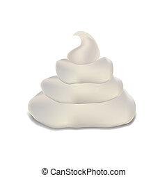 cream - illustration with cream on a white background for...