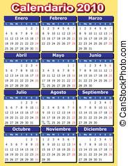 Spanish 2010 vector calendar