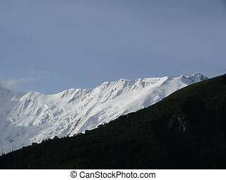 White Annapurna IV Peak in the Morning - The snowy peak of...
