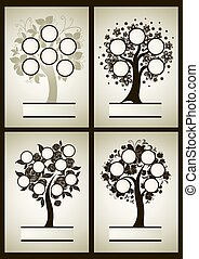 Vector set of  family tree designs