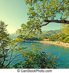 beautiful beach, Mediterranean sea Italy - Overview from...