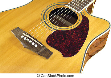 Acoustic guitar top with six string - Classic acoustic...
