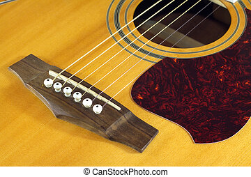 Acoustic guitar top with six string - Classic acoustic six...