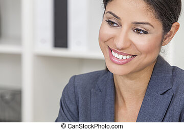 Beautiful Latina Hispanic Woman Businesswoman