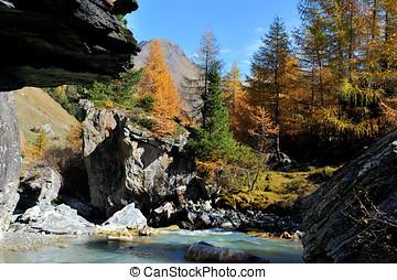 mountain landscape - Innergschloss, Austria