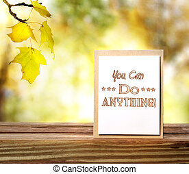 You Can Do Anything - You Can Do Anything This Fall message...