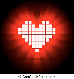 Heart energy, health concept. Vector illustration