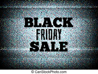 TV commercial black friday sale vector illustration