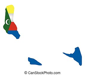 Comoros Flag - Flag of the Union of the Comoros Islands...