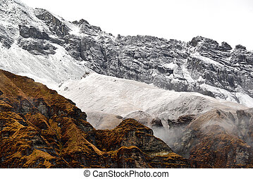 Annapurna Base Camp, Himalaya mountains, Nepal - Annapurna...