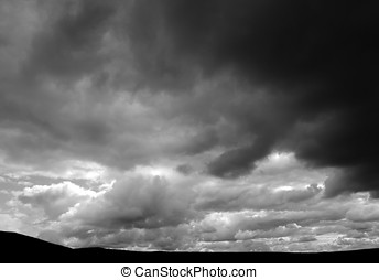 Storm clouds - Dark Storm clouds over Yorkshire Dales...