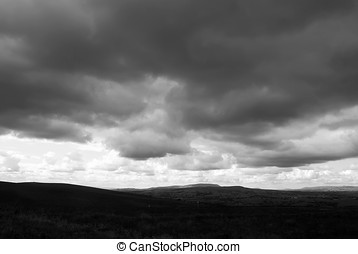 Dark moody clouds