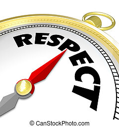 Respect Word Gold Compass Direction Earn Reputation Advice -...