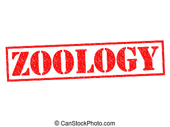ZOOLOGY red Rubber Stamp over a white background.