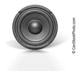 audio speaker on white
