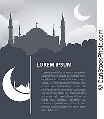 Islamic design template