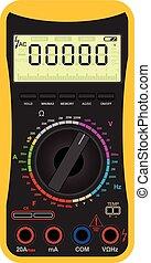 Digital multimeter - Vector illustration of a digital...