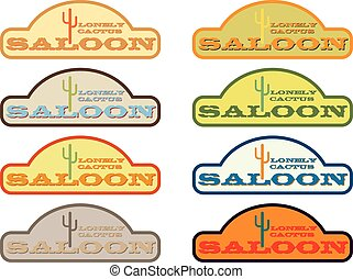 Saloon badge - Vector illustration of vintage saloon badge