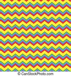Chevron bright colors vector - Repeating zig zag pattern in...