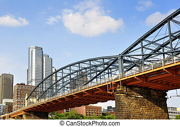 Smithfield Street Bridge Pittsburgh - view of the Smithfield...