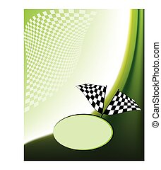 Race Card Design Vector Art