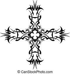 Tattoo Christian Cross Vector Art