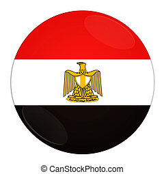 Egypt button with flag
