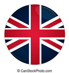 Britain button with flag - Abstract illustration: button...