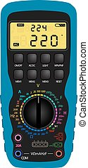 Digital multimeter - Vector illustration of a digital...