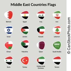 Middle East countries - The vector illustration, Country...