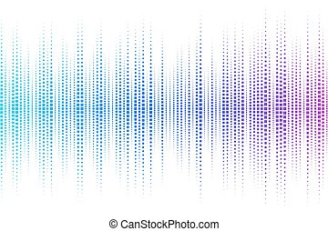Equalizer digital. color vector ill